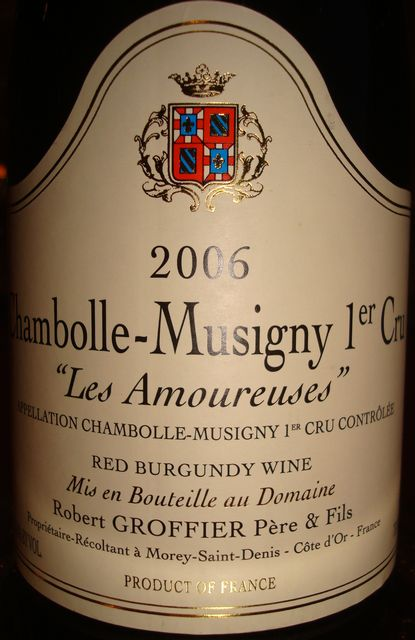 Chambolle Musigny Les Amoureuses Robert Groffier 2006