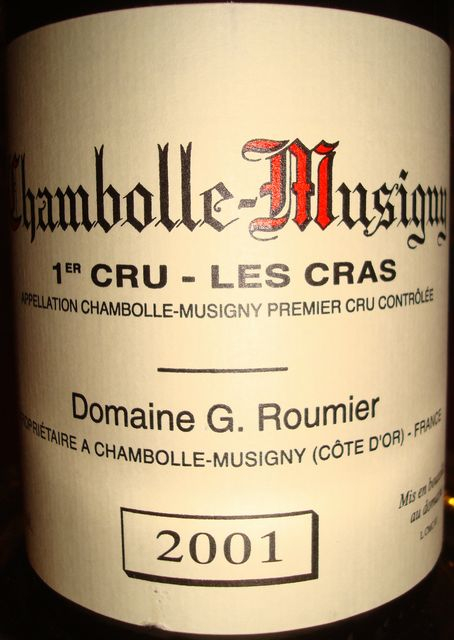 Chambolle Musigny Les Cras Domaine G Roumier 2001