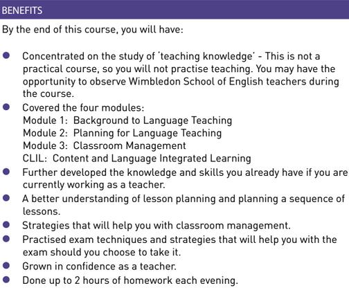 WSE Cambridge teaching knowledge test course