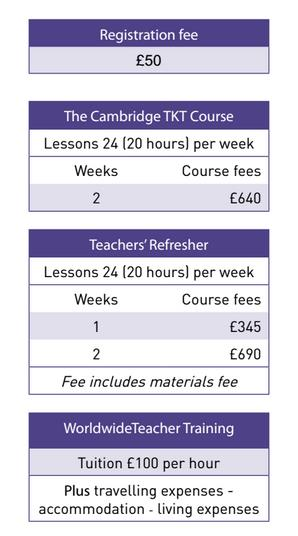 WSE Teachers course Price List 2