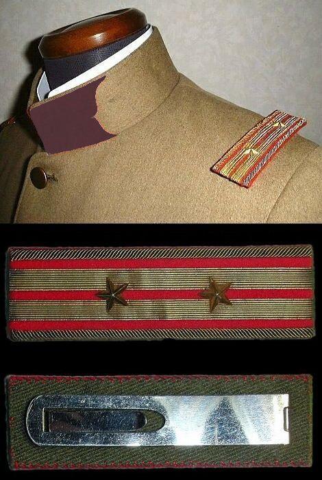 陸軍_工兵科(鳶色)襟章_中佐肩章