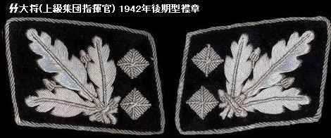 Paar Kragenspiegel für einen Obergruppenführer und General der Waffen-SS