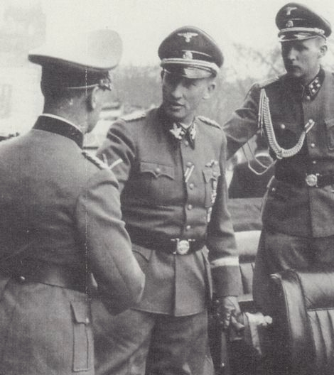 Heydrich on a visit to France in May of 1942