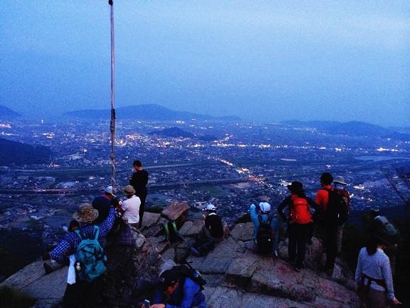 サタデーナイト右田ヶ岳山頂