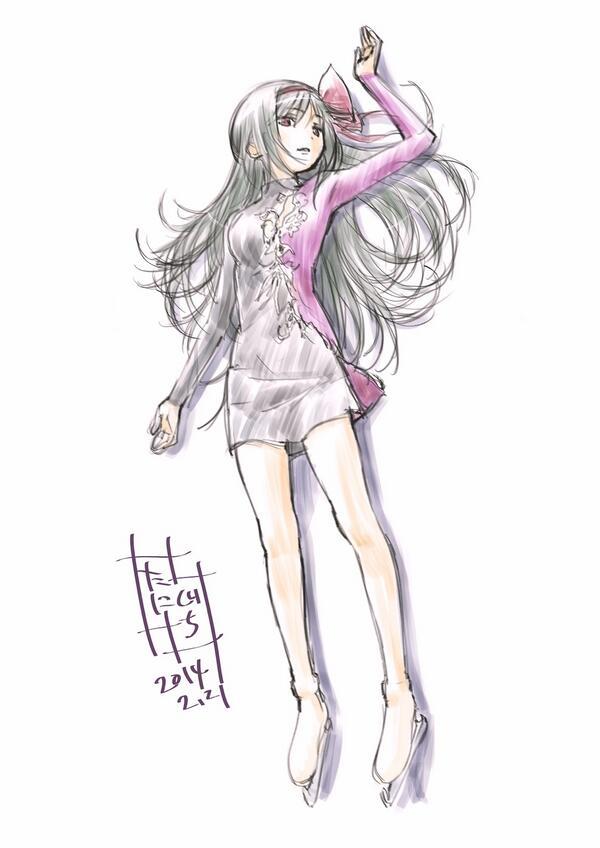 『魔法少女まどか★マギカ』キャラデザ・谷口淳一郎さん、キム・ヨナの滑りを観てホム・ヨナを描く・・・