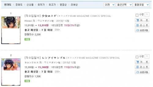 韓国政府、日本成人漫画販売禁止のはずがワニマガジン社発行2冊に対し異例の販売許可