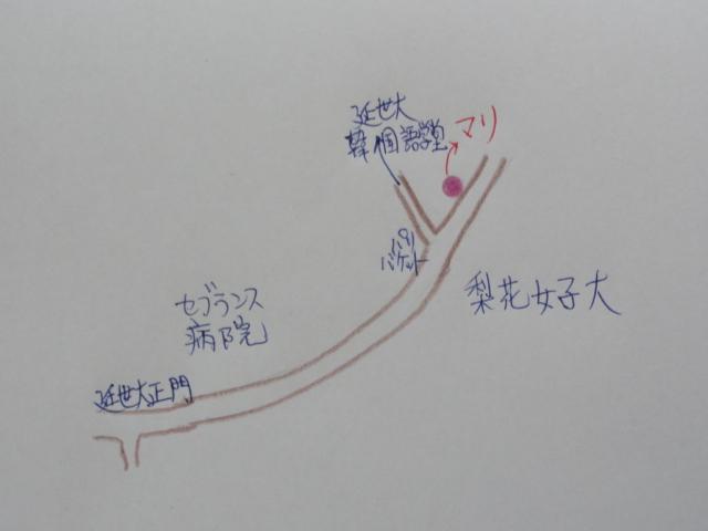2014年6月2日 語学堂周辺地図