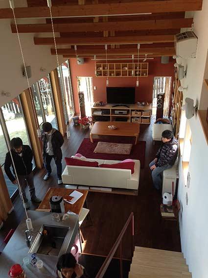 武蔵増戸のR屋根の家一年検査実行