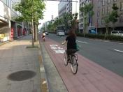 140531地下鉄の日:烏丸通り自転車レーン