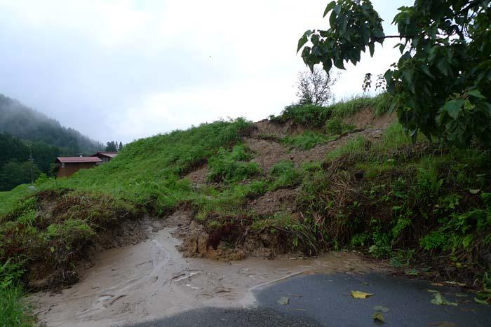 2014 夏 災害 大雨、 土砂崩れ 1