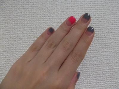 指を伸ばしたハーフフレンチ。