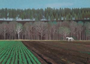 038_長谷川町子美術館 東山魁夷 春を呼ぶ丘 1972(昭和47) 紙本彩色0905_RGB
