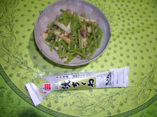 8月27日茎の炒め煮