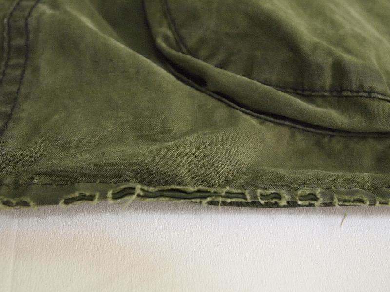 5年間使用しているBarbour®ビデイルの裾