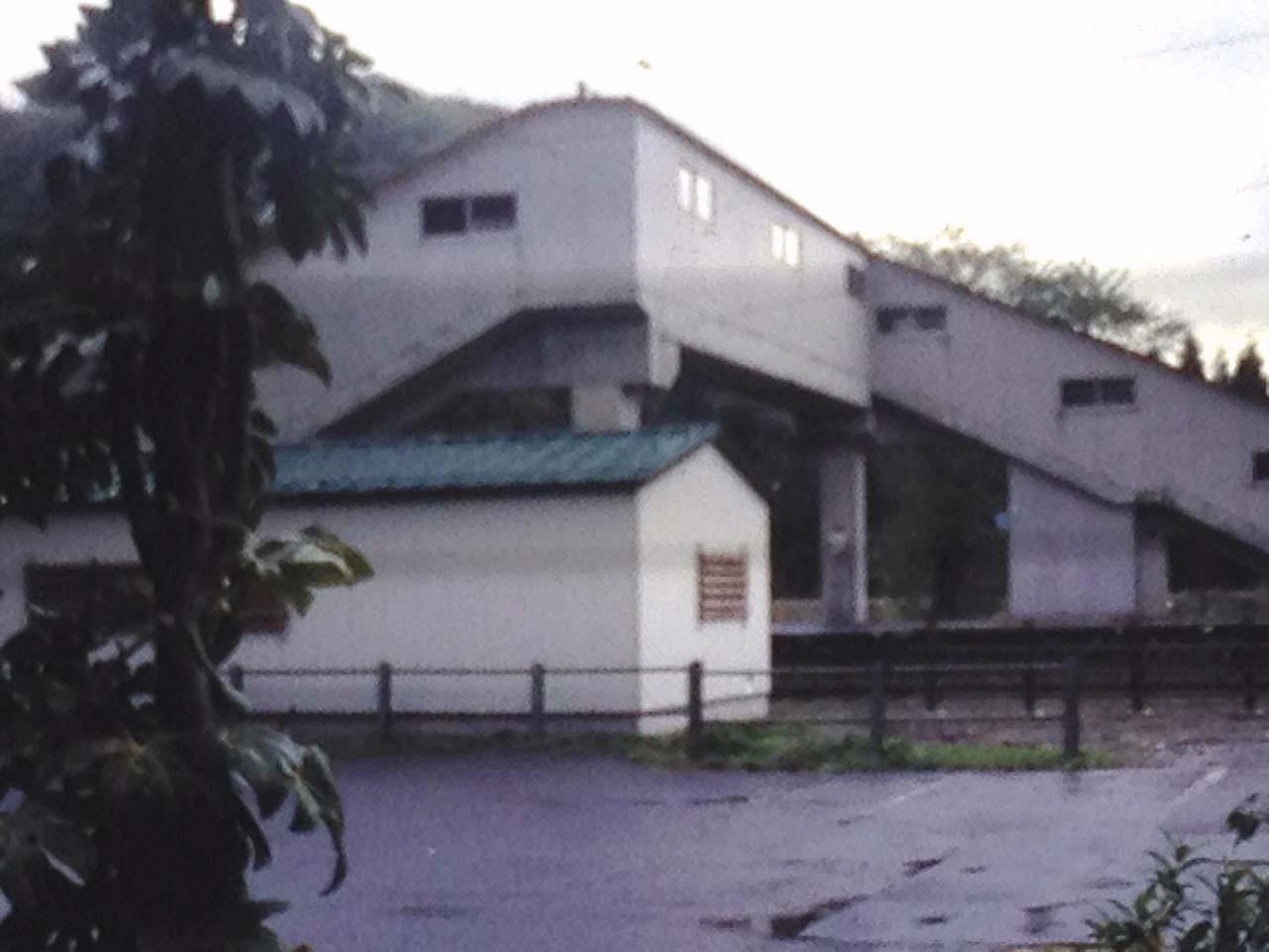 五十島駅階段
