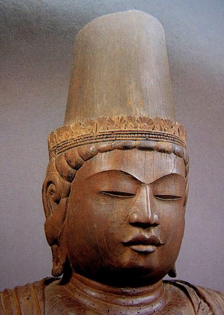 常念寺・菩薩立像~連眉表現の顔