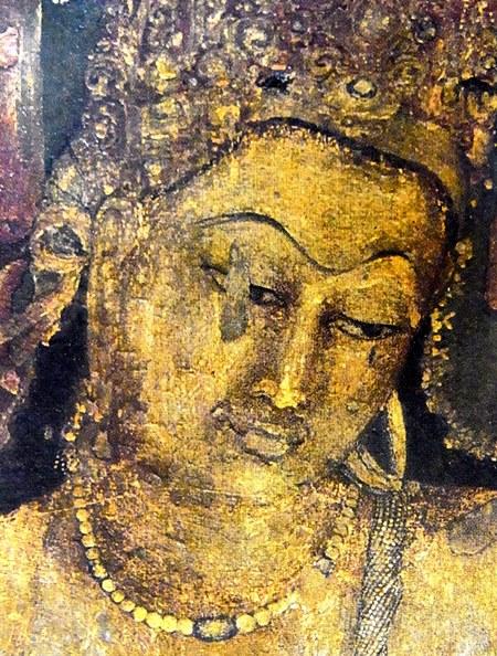 アジャンタ石窟第1窟・蓮華手菩薩像壁画(5~6世紀)