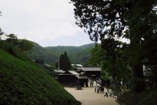 旧東海道:箱根関所跡を江戸方より見る