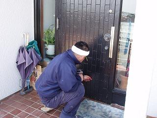 玄関ドア修理 (2)