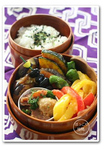 鮭と彩り野菜の揚げびたし弁当