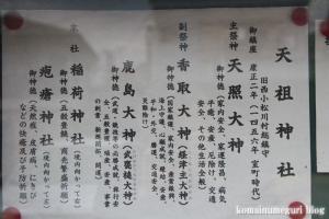 天祖神社(江戸川区西小松川)4