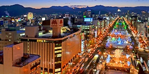 黄昏の札幌