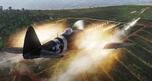 地上を攻撃するP-47