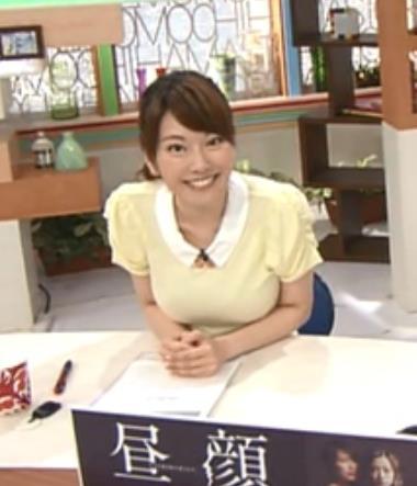 新垣泉子 巨乳地方アナキャプ画像(エロ・アイコラ画像)