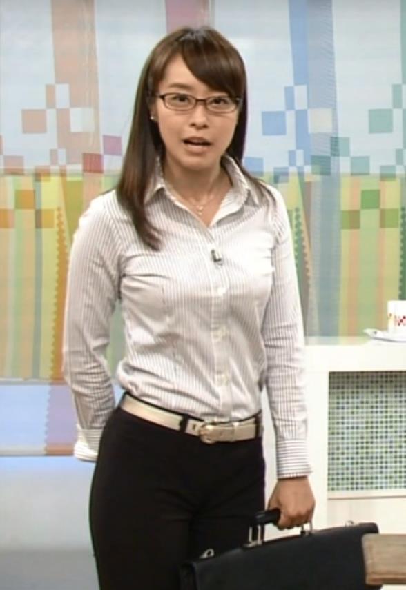 片山千恵子 巨乳×ワイシャツキャプ画像(エロ・アイコラ画像)
