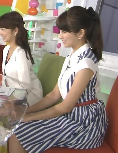 三田友梨佳 横乳 (めざましテレビ 20140906)キャプ画像(エロ・アイコラ画像)
