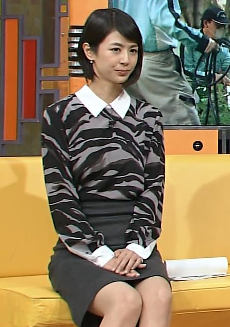 夏目三久 ミニスカ太ももデルタゾーンキャプ画像(エロ・アイコラ画像)