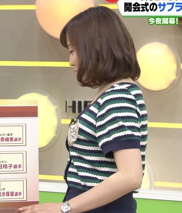 江藤愛 真横から横乳キャプ画像(エロ・アイコラ画像)