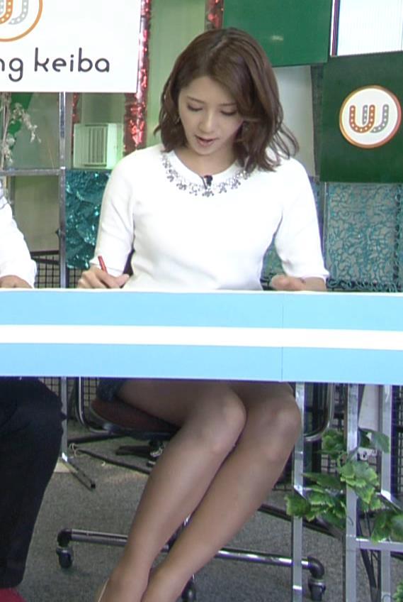 植田萌子 ミニスカ美脚キャプ画像(エロ・アイコラ画像)