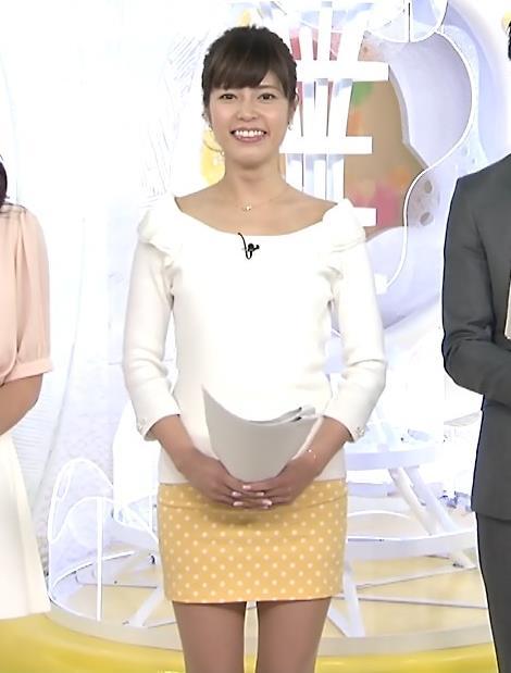 神田愛花 ミニのタイトスカート