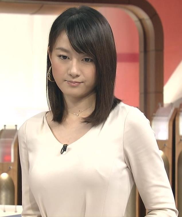 大島由香里 胸が強調されたワンピースキャプ画像(エロ・アイコラ画像)