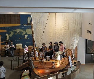 豪商の船も展示してあり、しっかりと研修も